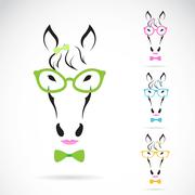 vector image of a horse glasses on white background. - stock illustration