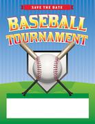 Baseball tournament illustration Stock Illustration