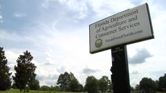 Florida Department of Agriculture & Consumer Services sign Stock Footage