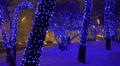 Christmas, New year time in city streets, decorated and illuminated Footage