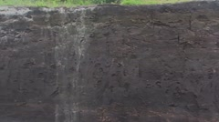 Ground profile of a raised bog + pan peat formation Stock Footage