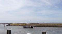 Harbor in harlingen, Friesland, The Netherlands Stock Footage