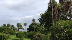 Dark clouds at papeete Tahiti, French Polynesia - stock footage