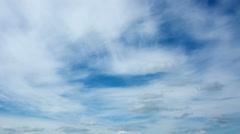 Sky with several layers of clouds - timelapse Stock Footage
