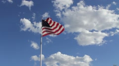 American Flag with beautiful cloud background - stock footage