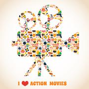 Stock Illustration of Action movie camera