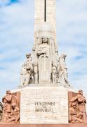 Freedom Monument in Riga, Latvia Stock Photos