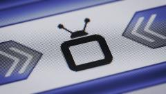 TV icon on the screen. Looping. Stock Footage