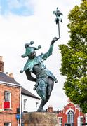 Jester statue located in Stratford-upon-Avon Stock Photos