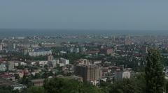 View from top point on the Makhachkala (Caucasus) Stock Footage