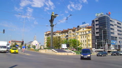 Central part of Sofia, Bulgaria, Europe. - stock footage