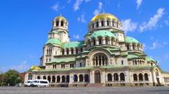 Alexander Nevski Memorial Church Sofia Stock Footage