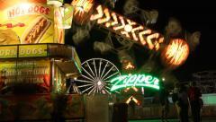 Carnival Ride - Zipper timelapse Stock Footage