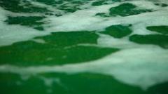 Closeup of Water foam Stock Footage