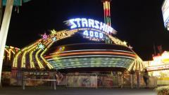 Carnival Ride - Starship 4000 Stock Footage