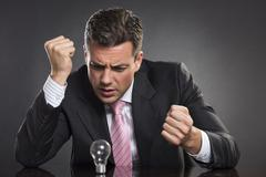 anger management - stock photo