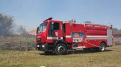 Firemen - Rescue truck Stock Footage