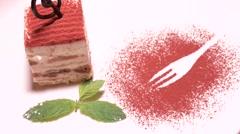 Tiramisu gourmet dessert Stock Footage