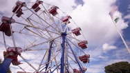 Stock Video Footage of Ferris Wheel Clouds Time lapse