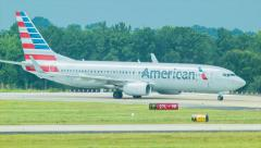 American Boeing 737 at Atlanta Airport Stock Footage