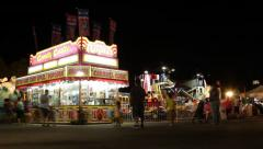 Carnival Midway Vendors Stock Footage