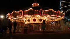 Carnival Ride - Carousel Stock Footage