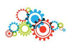 Transparent Cog Wheels Stock Illustration