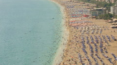 Crowd in the famous place cleopatra beach Stock Footage