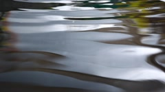 Color reflection in the water Stock Footage