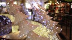 Christmas shopping Stock Footage