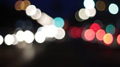 Car lights in berlin city Stock Footage