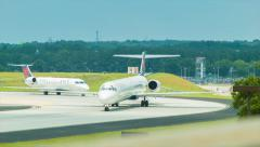 Regional Jets from Delta Airlines at Atlanta Airport - stock footage