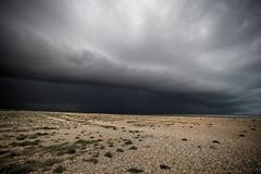 Storm Over Dungeness Again Stock Photos