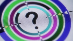 Question icon on the screen. Looping. Stock Footage