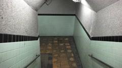 POV Running Thru Dirty Underground Tunnel Handheld Shot 4K Stock Footage