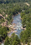 arkansas river in colorado - stock photo