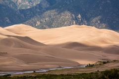Detail of great sand dunes np Stock Photos