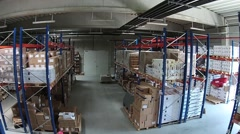 Inside a warehouse of books Stock Footage