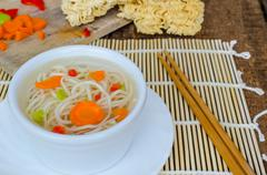 chinese noodles soup healthy? - stock photo