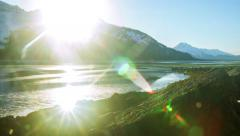 Chilkat Bright Evening Sundown Outgoing Tide HD Stock Footage