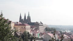 Beautiful view of the Prague Castle Stock Footage