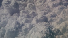 Flight over clouds Stock Footage