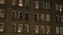 Typical New York Style Apartment Building or Hotel Stock Footage