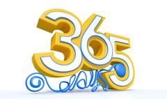 three hundred and sixty five days - stock illustration