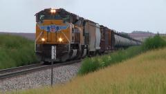 Oil Train approaches Stock Footage