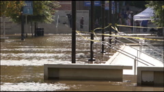 Pauley Pavilion Flooding - stock footage