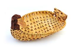 bamboo basket - stock photo