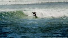 Big Wave Surfing in Malibu, Pacific Ocean, California Stock Footage