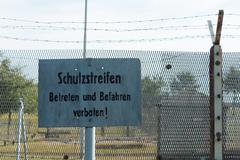 at the former inner german border - stock photo