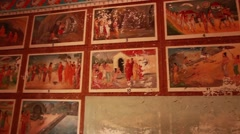 Anahadpura-temple wall art_0608 Stock Footage